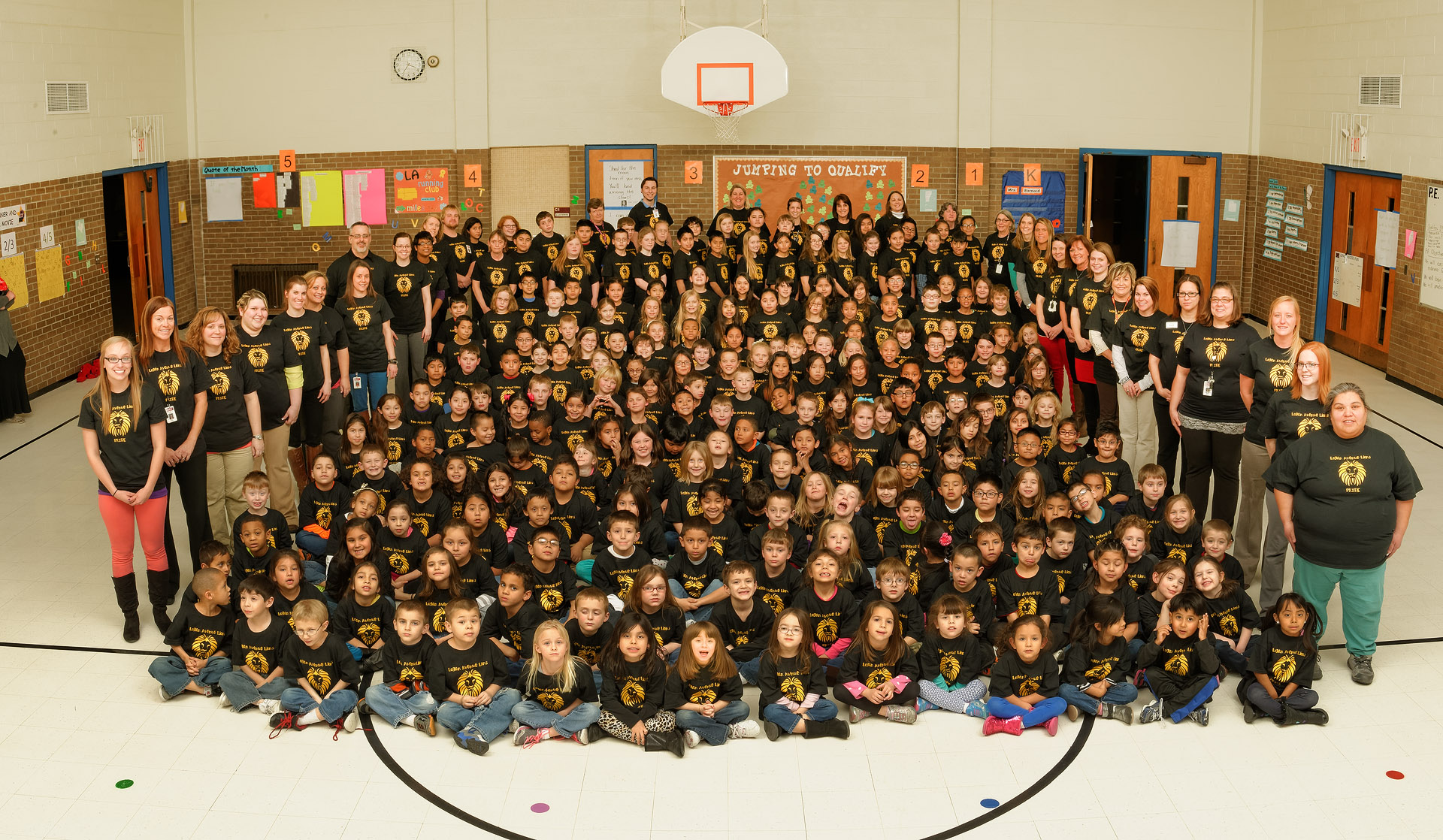 Group photos of Logan Avenue students