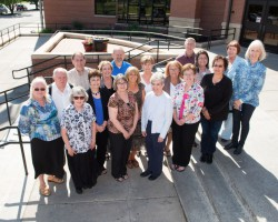 Front, from left: Sandra Simmons, Marilyn Harbaugh, Erin Kaufmann, Diane McCarty, Vickie Dinkel, Dinah Rodriguez and Bonnie Jasso; (middle) Donald Simmons, Sandra Brooks, Jan Traylor, Deborah Cunningham, Deborah Thompson and Ann North; and (back) Scott Capes