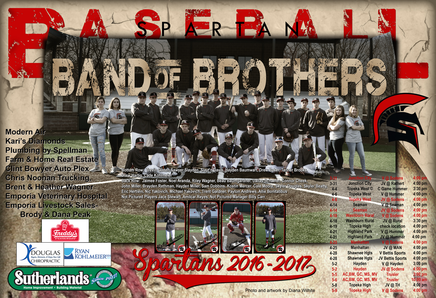 EHS Baseball Team Poster 2017b