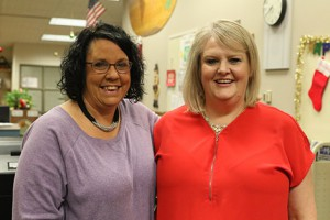 Janine Dorr (left) and Joann McRell (Gazette photo)