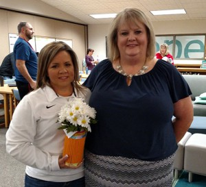 Christy Dragonas, left, and Joann McRell, EMS colleague and 2016 Emporia Master Teacher